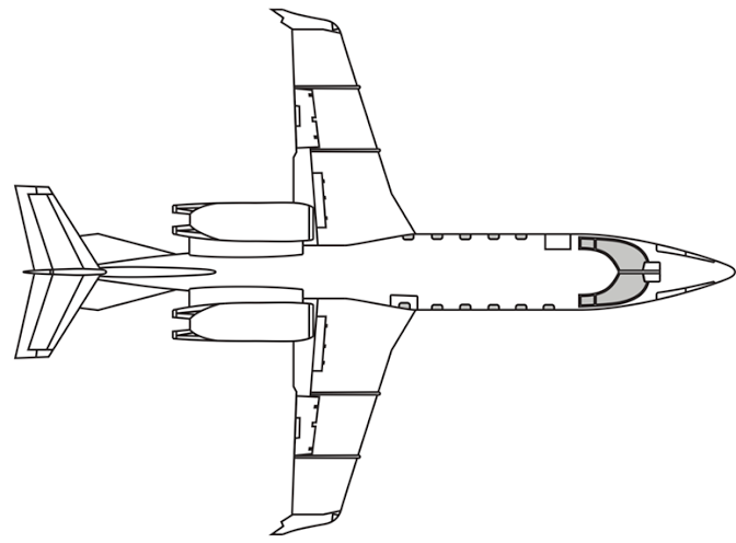 Learjet 60 60XR Vector