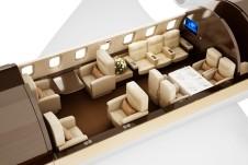 D-ABEY Challenger 605 ImperialJet 3D Floorplan