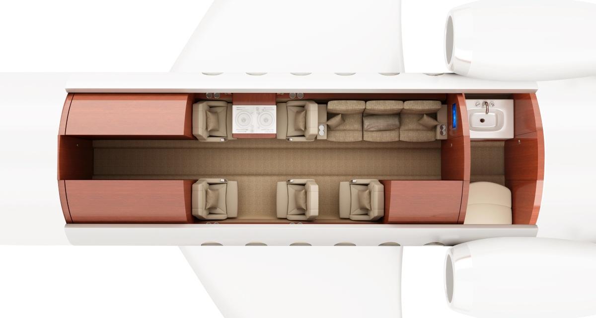 D-CXNL Hawker 800XP ImperialJet 3D Floorplan