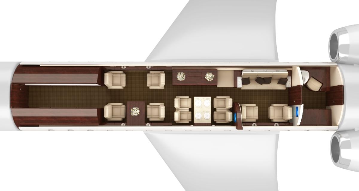 D-ANMB Global 6000 ImperialJet 3D Floorplan