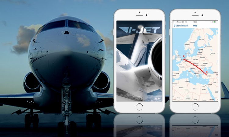 Private jet charter iphone app